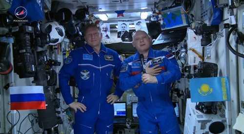 Космонавты записали видеообращение к казахстанцам
