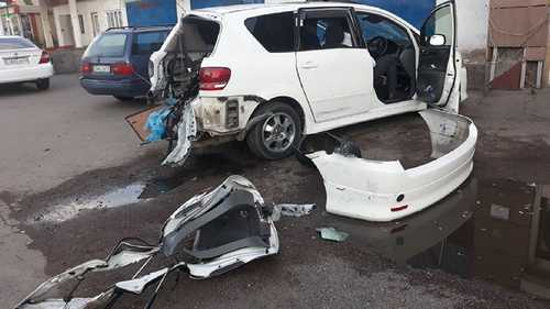 Машина взорвалась в Алматы, пострадала десятилетняя пассажирка авто