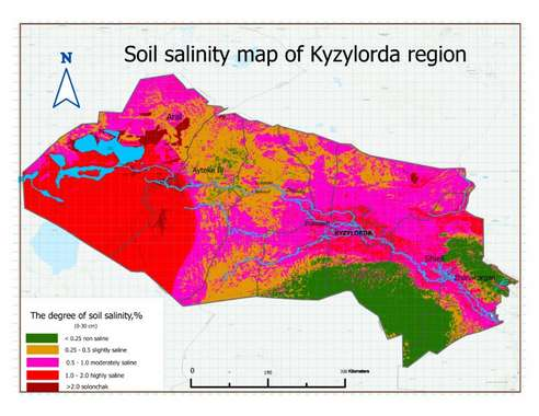 В Казахстане завершена работа над картами засоленности Кызылординской области
